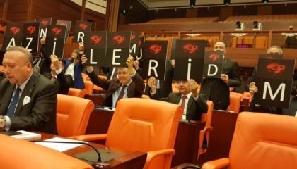 احتجاج بالبرلمان التركي للمطالبة بحقوق المحاربين القدامى