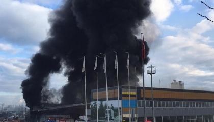 حوادث العمل التركية.. حريق فى مصنع بلاستيك فى مدينة سامسون