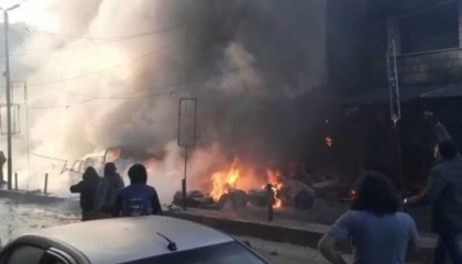 وزارة الدفاع التركية: مقتل 8 وإصابة 7 في انفجار شاحنة ملغومة بعفرين السورية