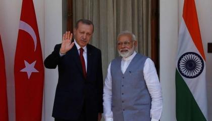 الهند تغضب من تدخلات أردوغان وتلوح بعقاب أنقرة اقتصاديًا