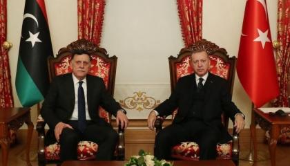 أردوغان يلتقي رئيس حكومة «الوفاق» في اجتماع غير معلن بإسطنبول