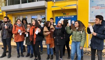 احتجاجات طلابية بـ«قاضي كوي» التركية ضد رفع أسعار الغاز والكهرباء