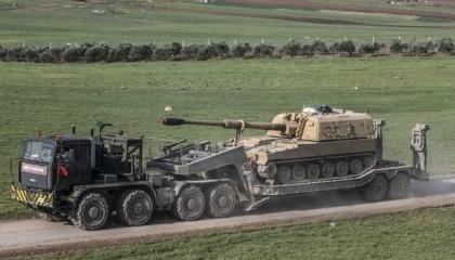 بصحبة المرتزقة.. القوات التركية تواصل إدخال القوافل العسكرية إلى إدلب