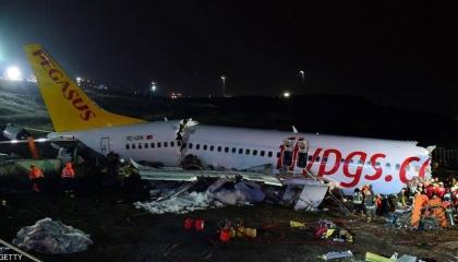 محكمة تركية تأمر بالقبض على قائد الطائرة المحطمة بإسطنبول