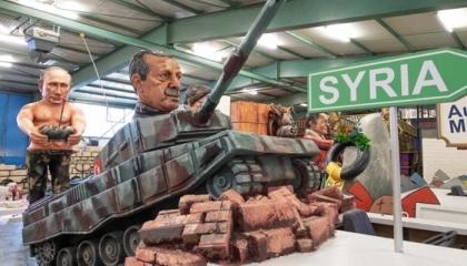 أردوغان مسخرة الألمان.. بوتين يحركه بالريموت في كرنفال شعبي