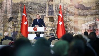 بالفيديو.. أردوغان: نحارب في سوريا لحماية العلم التركي وإحياء «الأذان»