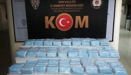 ضبط 7 آلاف قناع طبي مهربة في محافظة فان التركية