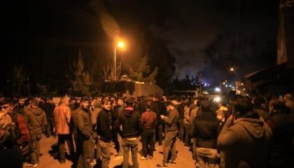 تمرد داخل سجن مدينة باطمان التركية واشتعال النيران داخل المعتقل