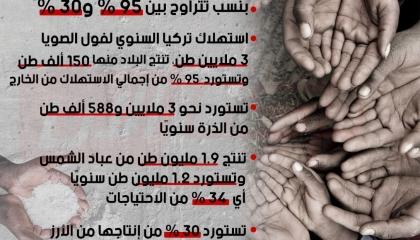 إنفوجراف: بالأرقام.. تركيا على حافة المجاعة