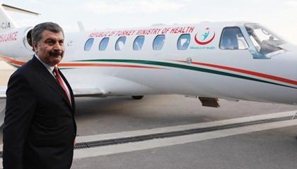 طائرة قطرية لنقل تركي مصاب بفيروس كورونا