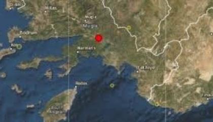 زلزال بقوة 4.5 درجة يضرب مدينة موغلا التركية