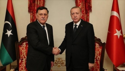أردوغان والسراج يبحثان خسائر ميليشيات طرابلس التابعة لأنقرة