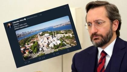 جدل حول تغريدة لرئيس الاتصالات الرئاسة التركية حول مسجد «آيا صوفيا»