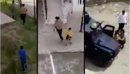 شرطي تركي يطلق النيران على أطفال ويصفع طفلا