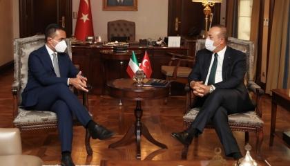 تقارب تركي إيطالي حول ليبيا.. وزيرا خارجية البلدين يتفقان على إحلال السلام