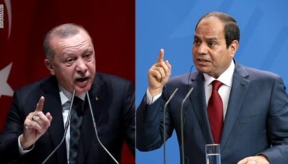 ردًا على تحذيره من التدخل بليبيا.. أردوغان يلجأ للجانه بتويتر لتشويه السيسي