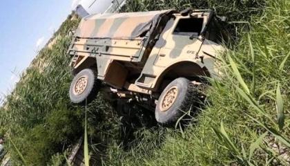أحدهم حالته خطيرة.. إصابة 5 جنود أتراك في انقلاب عربة عسكرية بغازي عنتاب