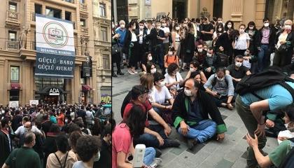نقابة المحامين بأسطنبول تنتفض ضد اعتداءات الشرطة على «مسيرة الدفاع» بأنقرة