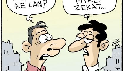كاريكاتير: «الاقتصاد الإسلامي» حيلة أردوغان لخداع الشعب التركي