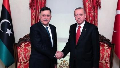 أردوغان يجدد دعم أنقرة لحكومة «الوفاق» الليبية برئاسة السراج