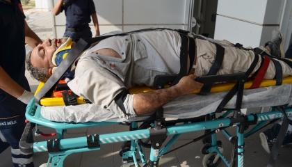سقوط عامل تركي من ارتفاع 3 أمتار