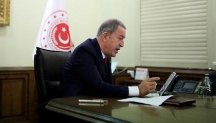 """وزير الدفاع التركي يهاتف أمين """"الناتو"""""""