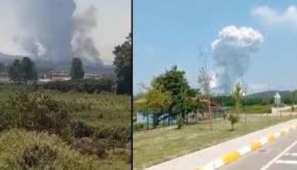 عاجل.. انفجارات شديدة بمصنع للألعاب النارية في تركيا.. وحكومة أردوغان تتأهب