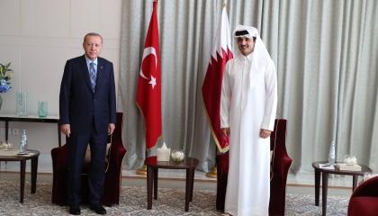 أردوغان يفصح عن مباحثاته مع تميم: تناولنا ملفات ليبيا وسوريا والعراق واليمن