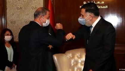 وزير الدفاع التركي يكشف عن نوايا أردوغان الخبيثة: سنظل في ليبيا للأبد
