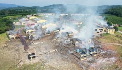 تركيا تعتقل 3 أشخاص للتحقيق في حادث انفجار مصنع صقاريا