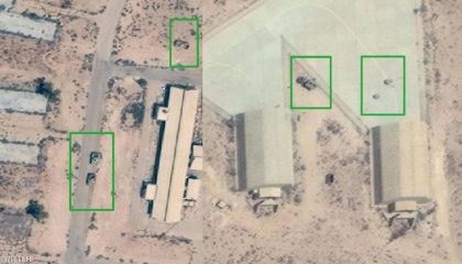 بالفيديو... اللقطات الأولى للضربات الجوية على قاعدة الوطية