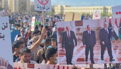 صور.. الشعب الليبي يعلن الجهاد ضد العدوان التركي في مظاهرات حاشدة ببنغازي