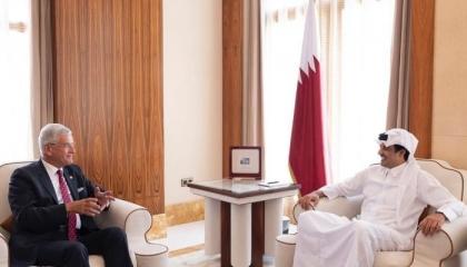 التركي فولكان بوزكير الرئيس المنتخب لجمعية الأمم المتحدة يلتقي بأمير قطر