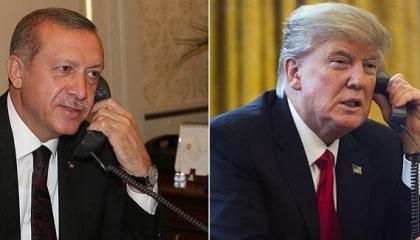 أردوغان يجري اتصالا هاتفيًّا بترامب لبحث مستجدات الأوضاع السورية والليبية