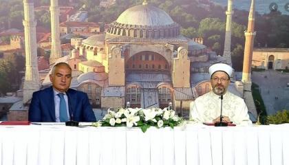 بروتوكول تعاون بين «السياحة» و«الشؤون الدينية» للعناية بـ« آيا صوفيا»