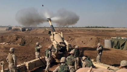 مدفعية الجيش التركي تقصف تجمعات المدنيين بقرى أبو راسين شمال سوريا