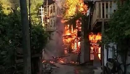 حريق بمنازل في «كارابوك» التركية