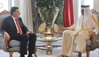 السراج يلتقي وزير خارجية قطر في إسطنبول.. ماذا دار بينهما؟
