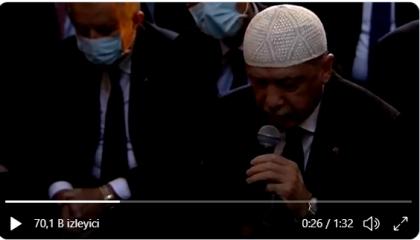 بالفيديو.. أردوغان يتقمص دور مقرئ ويتلو آيات القرآن في أول صلاة بآيا صوفيا