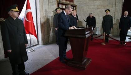 فيديو.. أردوغان أمام قبر أتاتورك: هدفنا السيطرة على المتوسط من سوريا لليبيا