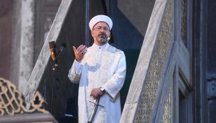 الشؤون الدينية التركية تحذف «لعنة أتاتورك» من نص خطبة إرباش بـ«آيا صوفيا»