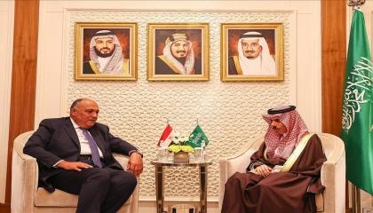وزيرا الخارجية المصري والسعودي: نتصدى معًا للتدخلات الأجنبية في ليبيا