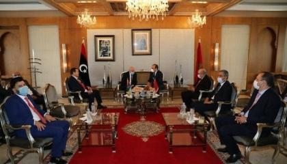 رئيس مجلس النواب المغربي وعقيلة صالح يبحثان حل الأزمة الليبية