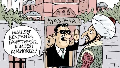 كاريكاتير تركي يرصد عجائب وغرائب أردوغان: لا تملك دعوة لا يمكنك الصلاة!