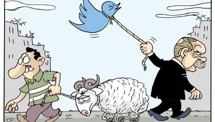 كاريكاتير ساخر: خروف العيد فلت من قبضة أردوغان!