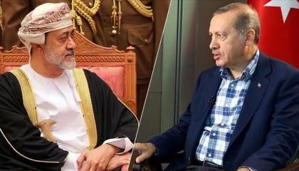 أردوغان يبحث مع سلطان عُمان تطوير العلاقات بين أنقرة ومسقط في اتصال هاتفي
