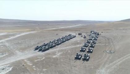 استمرار مناورات «النسر  التركي الأذري» استعدادًا للحرب ضد أرمينيا