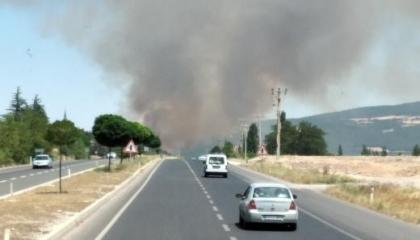 حريق هائل في منطقة الغابات بمدينة باشاك التركية