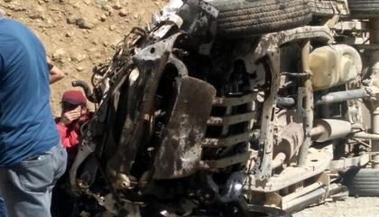مصرع 6 في انقلاب شاحنة بمدينة هكاري التركية