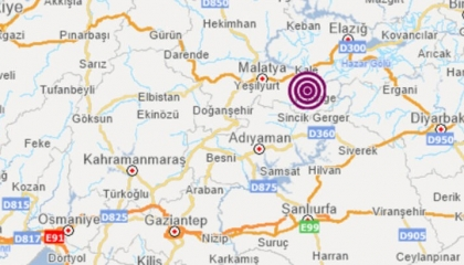 زلزال بقوة 4.4 درجة في مدينة مالطيا التركية
